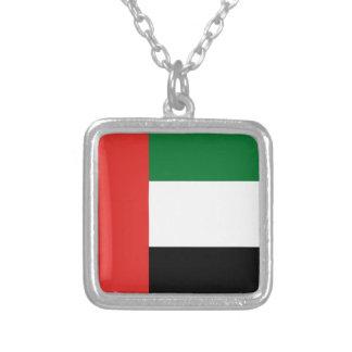 De vlag van Emiradosarabes Ketting Vierkant Hangertje