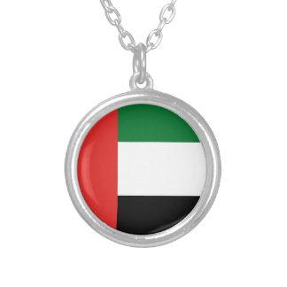 De vlag van Emiradosarabes Zilver Vergulden Ketting