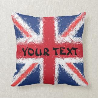 De Vlag van Engeland: VOEG TEKST TOE Sierkussen
