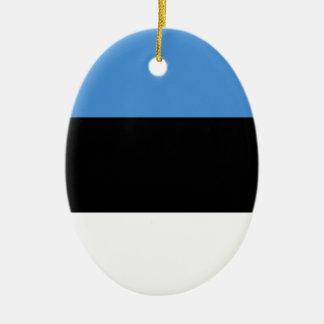 De vlag van Estland helemaal over ontwerp Keramisch Ovaal Ornament