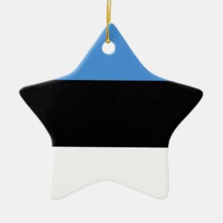 De vlag van Estland helemaal over ontwerp Keramisch Ster Ornament