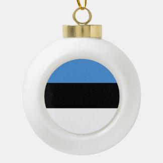 De Vlag van Estland Keramische Bal Ornament