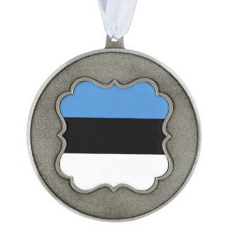 De Vlag van Estland Tin Geschulpt Ornament