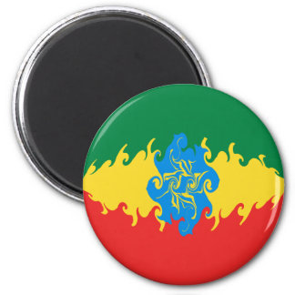 De Vlag van Ethiopië Gnarly Magneet
