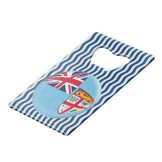De Vlag van Fiji Fijian Creditkaart Flessenopener