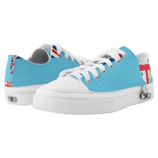 De Vlag van Fiji --.png Low Top Schoenen