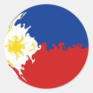 De Vlag van Filippijnen Gnarly Ronde Sticker