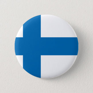 De Vlag van Finland Ronde Button 5,7 Cm