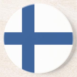 De vlag van Finland - Siniristilippu Zandsteen Onderzetter