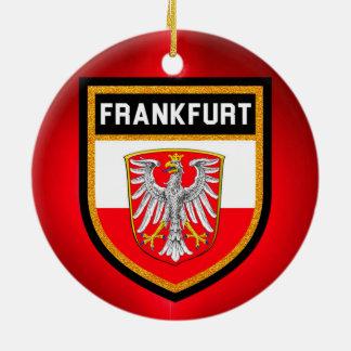 De Vlag van Frankfurt Rond Keramisch Ornament