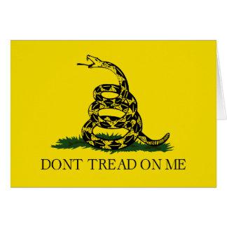 De Vlag van Gadsden - betreed niet op me Briefkaarten 0