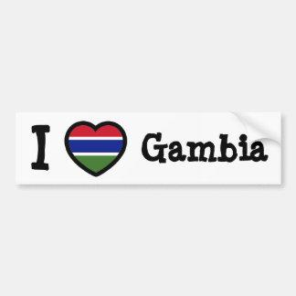 De Vlag van Gambia Bumpersticker