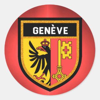 De Vlag van Genève Ronde Sticker