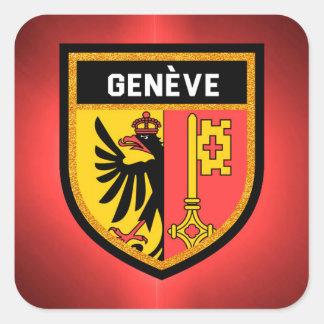 De Vlag van Genève Vierkante Sticker