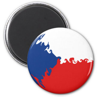 De Vlag van Gnarly van de Tsjechische Republiek Magneet