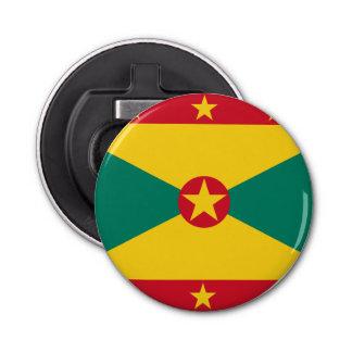 De Vlag van Grenada Button Flesopener