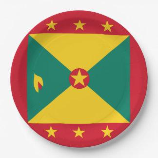 De Vlag van Grenada Papieren Bordje