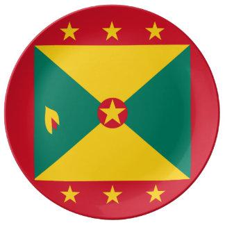 De Vlag van Grenada Porselein Bord