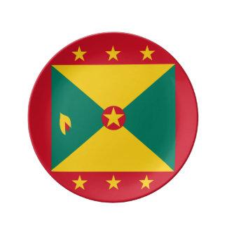 De Vlag van Grenada Porseleinen Bord