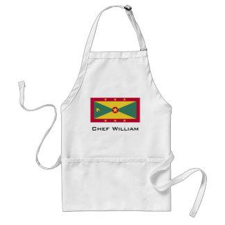 De Vlag van Grenada Standaard Schort