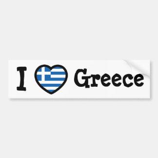 De Vlag van Griekenland Bumpersticker