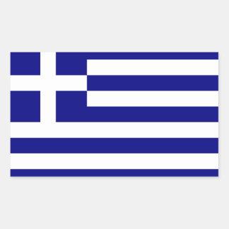De Vlag van Griekenland Rechthoekige Sticker