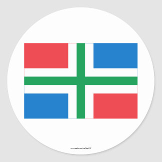 De Vlag van Groningen Ronde Sticker