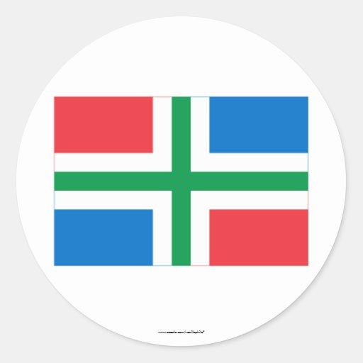 De Vlag van Groningen Ronde Stickers