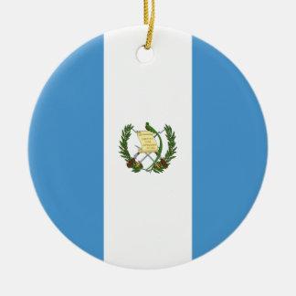 De Vlag van Guatemala Rond Keramisch Ornament