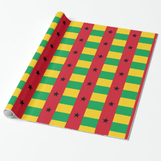 De Vlag van Guinea-Bissau Inpakpapier
