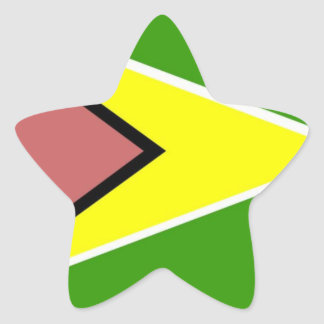 De Vlag van Guyana Ster Sticker