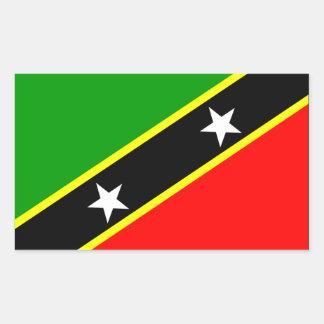 De Vlag van heilige Kitts Nevis Rechthoekige Sticker