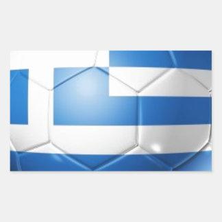DE VLAG VAN HET FOOTBALL VAN GRIEKENLAND RECHTHOEKIGE STICKER