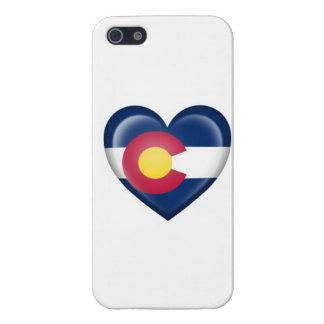 De Vlag van het Hart van Colorado op Wit iPhone 5 Cases