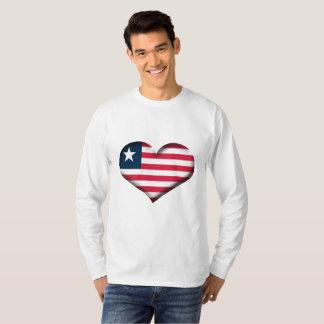 De Vlag van het Hart van Liberia T Shirt