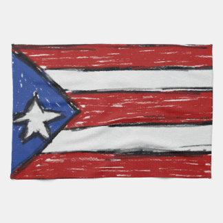 De Vlag van het Puerto Ricaan Theedoek