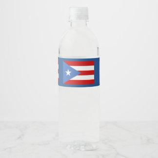 De Vlag van het Puerto Ricaan Waterfles Etiket
