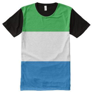 De Vlag van het Sierra Leone All-Over-Print T-shirt