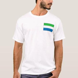 De Vlag van het Sierra Leone en de T-shirt van de