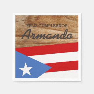 De Vlag van het Thema van het Puerto Ricaan Papieren Servet
