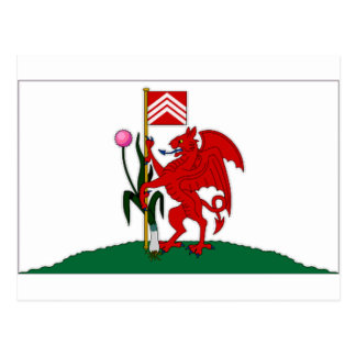 De Vlag van het Verenigd Koninkrijk Cardiff Briefkaart