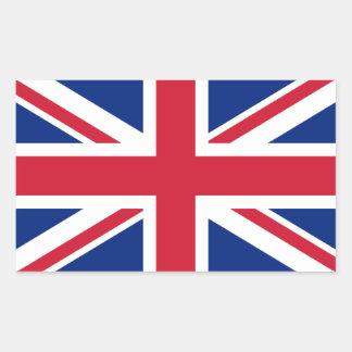 De Vlag van het Verenigd Koninkrijk Rechthoekige Sticker