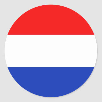 De Vlag van Holland Ronde Sticker