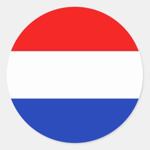 De Vlag van Holland Ronde Stickers