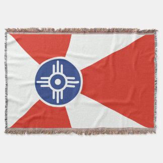 De Vlag van ICT van Wichita Kansas Deken