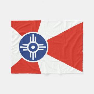 De Vlag van ICT van Wichita Kansas Fleece Deken