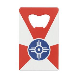 De Vlag van ICT van Wichita KS Creditkaart Flessenopener