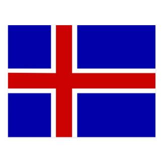 de vlag van IJsland Briefkaart