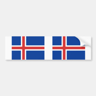 De vlag van IJsland Bumpersticker