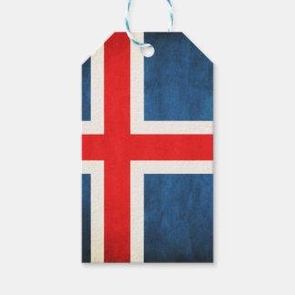 De vlag van IJsland Cadeaulabel